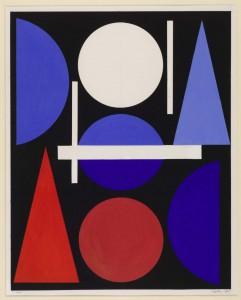 Nude 1960 by Auguste Herbin 1882-1960