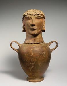 human-headed urn